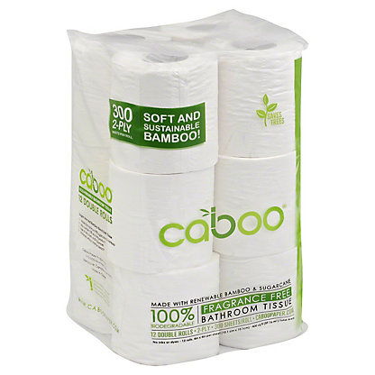 Caboo Caboo 300 Sheet 12 Pack Bathroom Tissue,12.00 ea